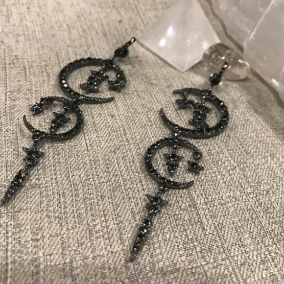 Black Sparkling ✨ Earrings